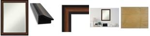 """Amanti Art Yale Framed Bathroom Vanity Wall Mirror, 21.38"""" x 27.38"""""""