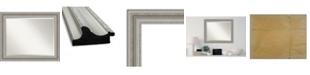 "Amanti Art Parlor Silver-tone Framed Bathroom Vanity Wall Mirror, 33.5"" x 27.50"""
