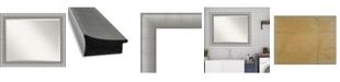 "Amanti Art Elegant Brushed Framed Bathroom Vanity Wall Mirror, 32.75"" x 26.75"""