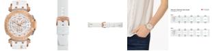 Tissot Women's Swiss Chronograph T-Race White Silicone Strap Watch 47.6mm