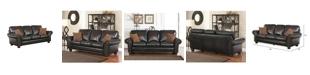 "Furniture Oliver 86"" Leather Sofa"