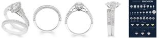 Macy's Certified Diamond (1 ct. t.w.) Bridal Set in 14k White Gold
