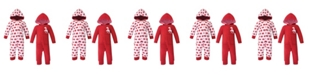 Hudson Baby Girl and Boy Fleece Union Suits 2 Pack