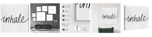 "Oliver Gal Inhale Minimalist Canvas Art, 36"" x 36"""