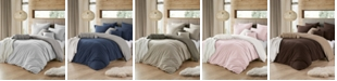 Cathay Home Inc. Ultra Soft Reversible Crinkle Duvet Cover Sets