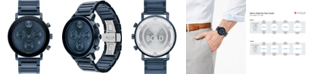 Movado Men's Swiss Chronograph Bold Evolution Blue Ion-Plated Steel Bracelet Watch 42mm
