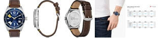 Citizen Eco-Drive Men's Classic Brown Leather Strap Watch 43mm