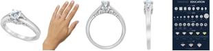 Macy's Star Signature Diamond Macy's Star Signature Certified Round Solitaire Diamond Engagement Ring (1 ct. t.w.) in 14k White Gold