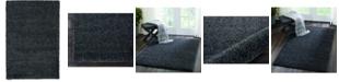 "Long Street Looms Cali Shag CAL01 Charcoal 3'11"" x 5'11"" Area Rug"
