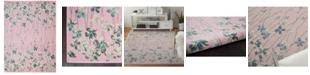 Long Street Looms Peace PEA04 Pink 6' x 9' Area Rug