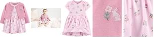 Carter's Baby Girls 2-Pc. Cotton Cardigan & Floral-Print Dress Set