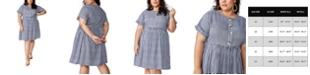 COTTON ON Trendy Plus Size Woven Button Front Dress
