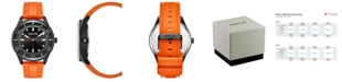Kenneth Cole Reaction Men's Dress Sport Round Orange Silicon Strap Watch 46mm