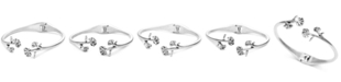 Lucky Brand Silver-Tone Flower Cuff Bracelet