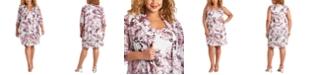 R & M Richards Plus Size Floral-Print Jacket & Dress