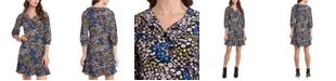 Riley & Rae Paige Floral-Print Wrap Dress, Created for Macy's