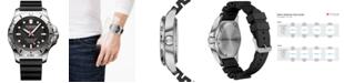 Victorinox Swiss Army Men's Swiss I.N.O.X. Professional Diver Black Rubber Strap Watch 45mm 241733.1