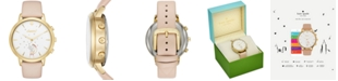 kate spade new york Women's Metro Grand Vachetta Leather Strap Hybrid Smart Watch 39mm KST23102