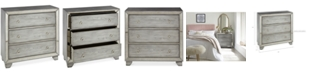 Madison Park Mykel 3 Drawer Mirrored Chest, Quick Ship