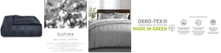 """Charter Club 3"""" Stripe Twin Duvet Cover, 100% Supima Cotton 550 Thread Count, Created for Macy's"""