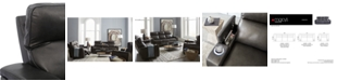 """Furniture Oaklyn 61"""" Leather Loveseat With Power Recliners, Power Headrests and USB Power Outlet"""