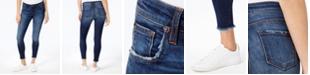 STS Blue Emma Mid Rise Fray-Hem Ankle Skinny Jeans