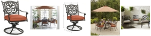 Furniture Chateau Cast Aluminum Outdoor Dining Swivel Rocker, Created for Macy's
