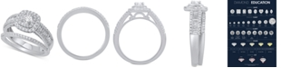 Macy's Diamond Halo Bridal Set (1 ct. t.w.) in 14k White Gold