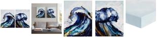 "JLA Home Madison Park 'Liquid Waves' 22"" x 28"" Gel-Coated 2-Pc. Canvas Wall Art Set"