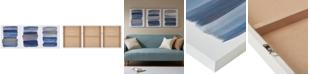 JLA Home   Urban Habitat Traveling Road Navy 3-Pc. Canvas Print Set with Silver Foil Embellishment