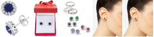 EFFY Collection EFFY® Sapphire (1-1/8 ct. t.w.) & Diamond (1/3 ct. t.w.) Stud Earrings in 14k White Gold (Also available in Emerald, Certified Ruby & Tanzanite)