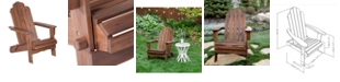Walker Edison Acacia Adirondack Chair - Dark Brown