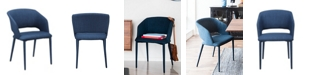 Moe's Home Collection William Dining Chair Navy Blue