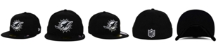 New Era Miami Dolphins Black And White 59FIFTY Fitted Cap