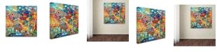 """Trademark Global Oxana Ziaka 'Unicorn' Canvas Art - 14"""" x 14"""" x 2"""""""