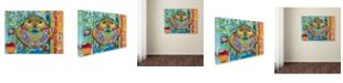 "Trademark Global Oxana Ziaka 'Judaica Folk Owl' Canvas Art - 19"" x 14"" x 2"""