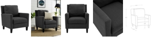 Walker Edison Pillow Back Accent Chair in Charcoal