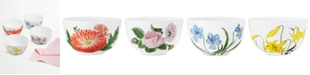 Martha Stewart Collection Set of 4 Floral Cereal Bowls, Created for Macy's
