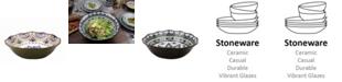 "Lorren Home Trends Bimini Collection 13"" Wavy Stoneware Bowl"