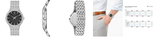 Bulova Men's Phantom Crystal-Accent Stainless Steel Bracelet Watch 40mm