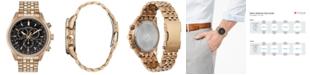 Citizen Eco-Drive Men's Chronograph Brycen Gold-Tone Stainless Steel Bracelet Watch 44mm