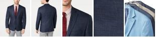 Michael Kors Men's Classic-Fit Navy Plaid Sport Coat