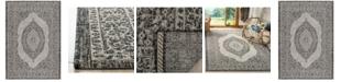 "Safavieh Courtyard Light Gray and Black 5'3"" x 7'7"" Sisal Weave Area Rug"