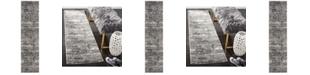 Safavieh Lurex Black and Grey 2' x 8' Runner Area Rug