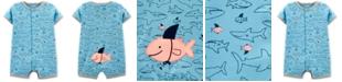 Carter's Baby Boys Fish-Print Cotton Romper