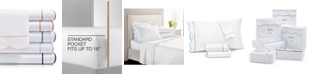 Martha Stewart Collection Signature Scallop Sheet Sets, 400 Thread Count 100% Cotton Percale, Created for Macy's
