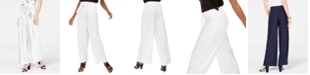 INC International Concepts INC Wide-Leg Paper Bag Tie Waist Pants, Created for Macy's