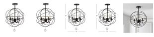 JONATHAN Y Alma Metal LED Flush Mount