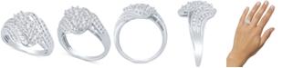 Macy's Diamond Three-Stone Cluster Ring (1 ct. t.w.)