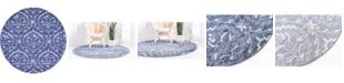 Bayshore Home Bridgeport Home Felipe Fel1 Blue 8' x 8' Round Area Rug
